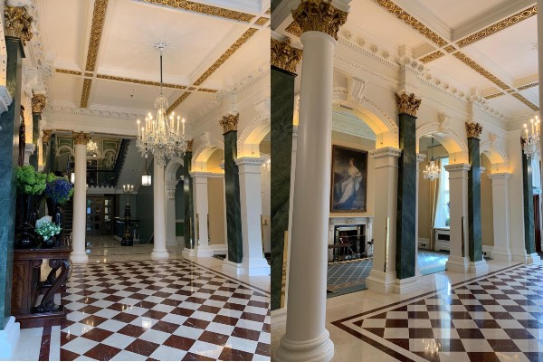 Shelbourne refurbished lobby Scollard Doyle cost managers